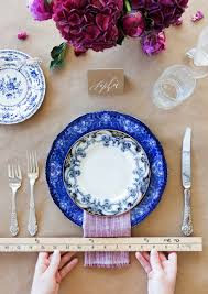 Set The Table How To Set The Modern Holiday Table Camille Styles