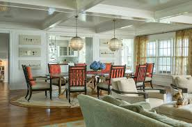 zinc dining table dining room beach with coffered ceiling great