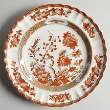 spode indian tree orange rust scallop trim at replacements
