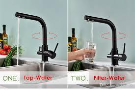 Matte Black Kitchen Faucet Wholesale Matte Black Kitchen Faucet Tri Flow Swivel Sink Mixer 3