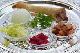 passover plate foods passover seder plate with the seventh symbolic item used during