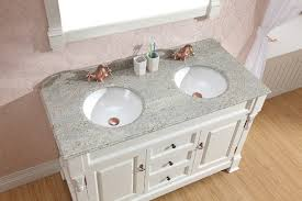 Traditional Bathroom Vanity Units by White Vanities Double Basin Vanity With Marble Top