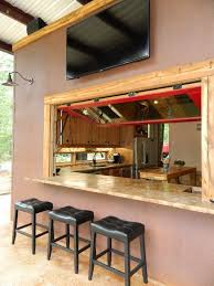 Kitchen Pass Through Window by Kitchen Pass Through Bar Patio Rustic With Hydraulic Window