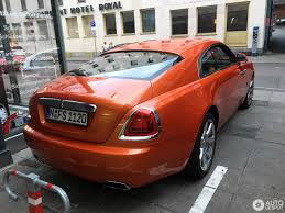 roll royce orange rolls royce wraith 7 june 2017 autogespot