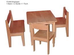 Tisch Buche Kindersitzgruppe Buche Massiv 4 Tlg Geölt 1 Kindertisch 1