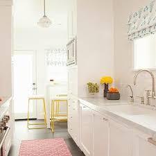 white galley style kitchen design ideas