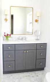 Shaker Style Bathroom Cabinets by Traditional Bathroom Featuring Gray Shaker Style Cabinetry Marble