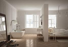 trennwand schlafzimmer luxus badewanne offen badezimmer trennwand schlafzimmer spiegel