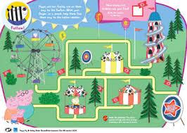 peppa pig funfair maze printable bub hub kids u0027 activities