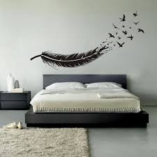Vinyl Wall Stickers Abstract Feather Into Birds Vinyl Wall Decal Custom Your Color