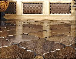 guidance to apply chic wooden floor tile designs simply