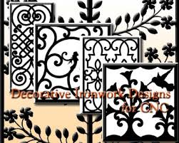 iron shadows decorative ironwork designs for cnc