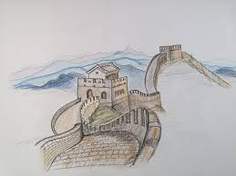 çin seddi nasıl çizilir timelapse how to draw the great wall of