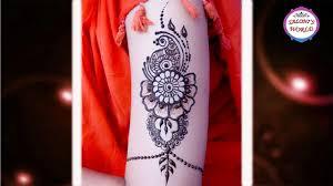 simple mehndi designs easy arabic henna tattoo tutorial by jyoti