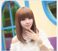 popular hair colour for korean korean popular lovely girls stylish heat resistant middle length