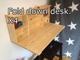 wooden fold down desk youtube