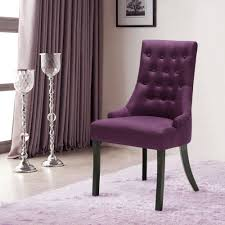 purple ikayaa accent linen fabric dining room chair lovdock com
