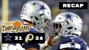 dallas cowboys vs washington redskins nfl week 12 recap
