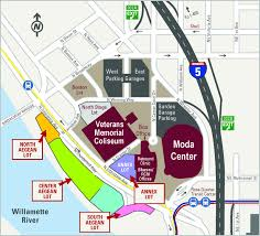 Boston Parking Map by Parking Information Portland Trail Blazers
