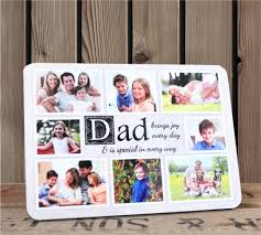 Christmas Gift Dad - personalised dad sentiment wood photo frame f60 fathers day