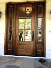 Solid Wooden Exterior Doors Wooden Front Doors Rustic Stained Wood Design Solid Wood Front