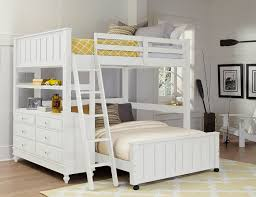 steinhafels sedona twin over full loft bed with chest end