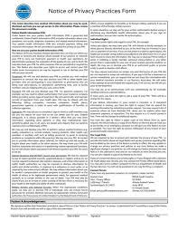 notice of privacy practices printable forms for patients pinterest