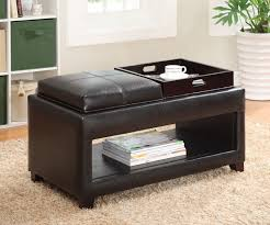 ottoman coffee table tray leather tables zone top thippo