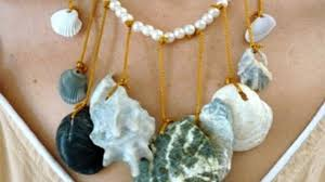 shell necklace making images Mermaid necklace jpg
