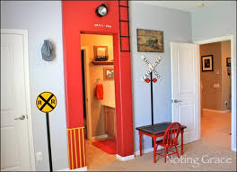 Red Bedroom For Boys Train Themed Bedroom For Boys Design Dazzle