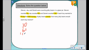 Simple Division Worksheets Grade 4 Long Division Word Problems Lesson 1 Youtube