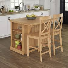 nantucket maple brown kitchen island with seating butcher w butcher block top island and two stools in maple