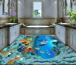 3d ocean floor designs 3d dolphin cove ocean floor mural photo flooring wallpaper