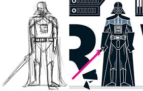 darth vader clipart full body pencil and in color darth vader