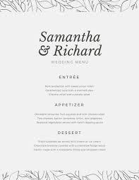 menu template wedding wedding menu templates canva