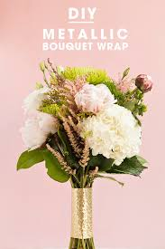 diy bouquet check out these awesome metallic wedding bouquet wraps