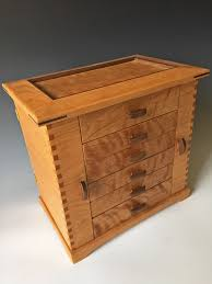 standing jewelry box handmade of wood