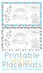 kids placemats printables to color april placemats for kids