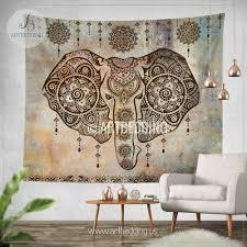 Indie Decor Elephant Tapestry Elephant Wall Tapestry Indie Tapestry Wall