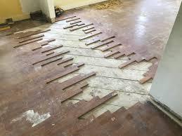 blending 1920s oak flooring with oak after water damage
