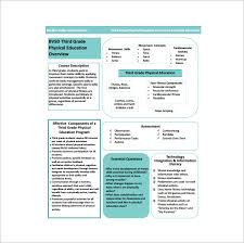 physical education lesson plan template u2013 8 free sample example
