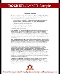 sales commission agreement template form with sample