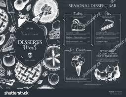 vector dessert menu design restaurant cafe stock vector 454405279