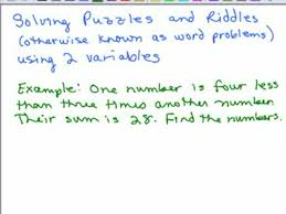 two variable word problems 1 preview image