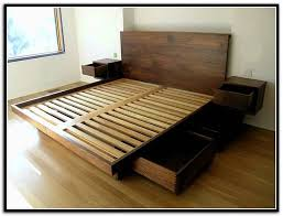 Queen Storage Beds With Drawers Wood Queen Storage Bed Frame Fleurdujourla Com Home Magazine