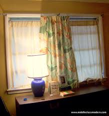 middle class modern a nice strong rod diy curtain hanging
