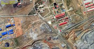 Satellite View Map Worldview 3 Satellite Image Bayan Obo Mine Satellite Imaging Corp