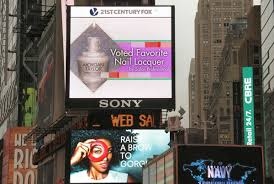morgan taylor comes to times square