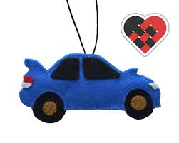 subaru wrx sti felt car christmas ornament handmade by