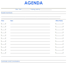 21 free agenda template word excel formats